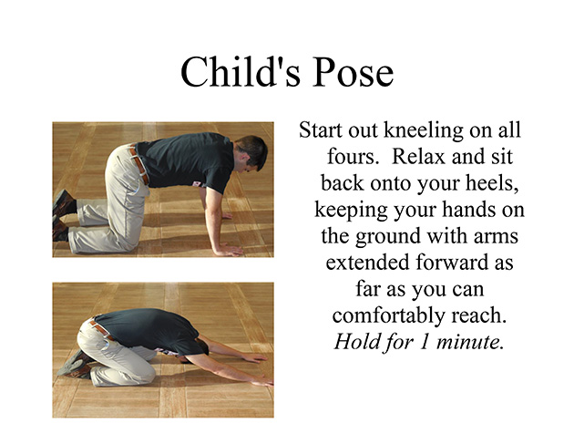 lumbar at home stretches